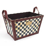 Courtly Check Magazine Bin