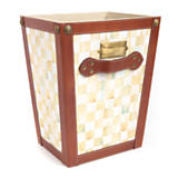 Parchment Check Waste Basket