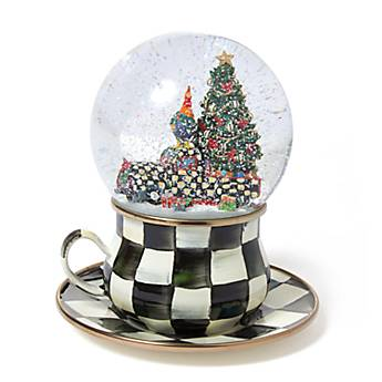 Courtly Check Truck Snow Globe