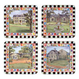 MacKenzie-Childs Farm Cork Back Coasters-Set/4