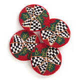 Beaded Evergreen Coasters - Set of 4