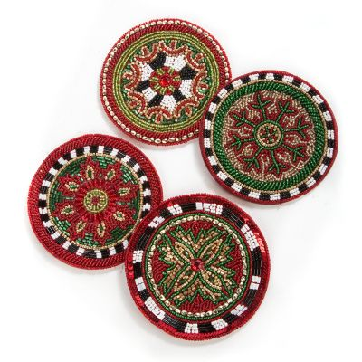 Festivity Beaded Coasters - Set of 4