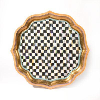 Courtly Check Serving Tray - 22""