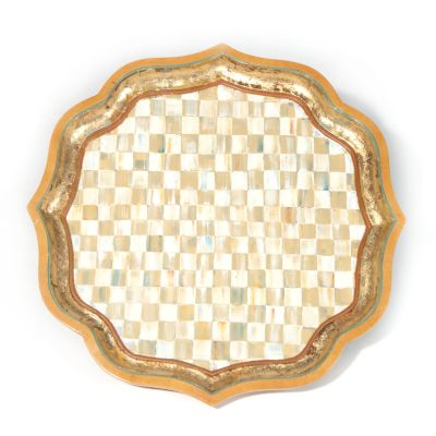 Parchment Check Serving Tray - 25""