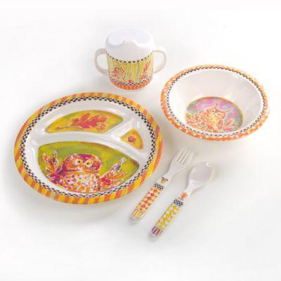 Toddler's Dinnerware Set - Owl