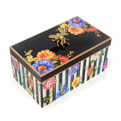 Cutting Garden Keepsake Box - Black