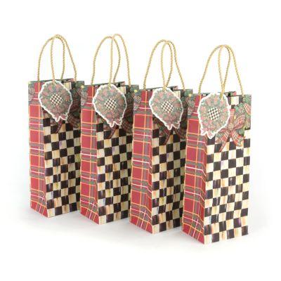 Evergreen Gift Bags - Bottle - Set of 4
