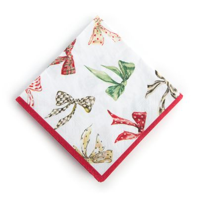 Holiday Bows Paper Napkins - Cocktail