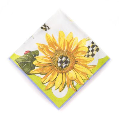 Sunflower Paper Napkins - Cocktail