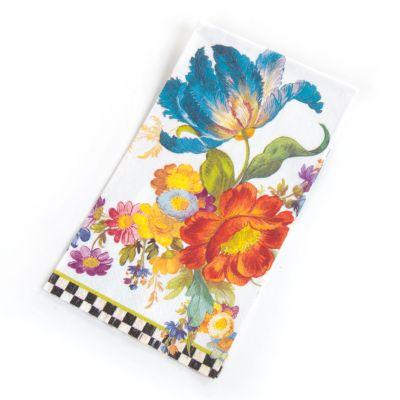 Flower Market Paper Napkins - Guest - White