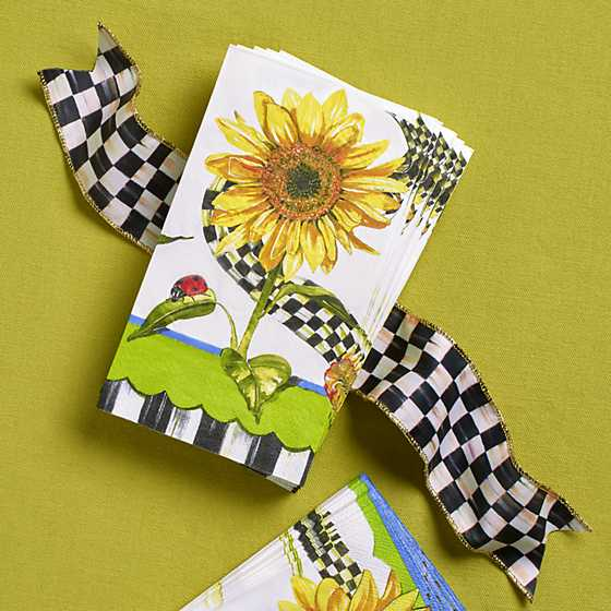 Mackenzie Childs Sunflower Paper Napkins Guest