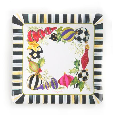 Deck the Halls Paper Plates - Salad/Dessert