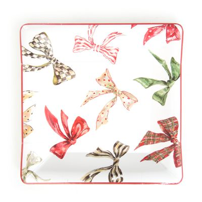 Holiday Bows Paper Plates - Salad/Dessert