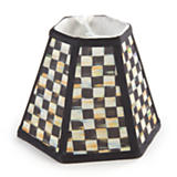Courtly Check Hex Shade - Chandelier