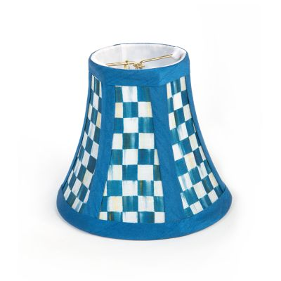 Berry Blue Check Shade - Chandelier
