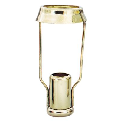 Brass Candle Follower - Round