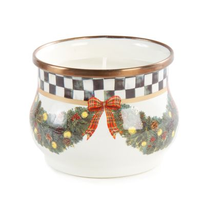 Evergreen Enamel Winter Candle