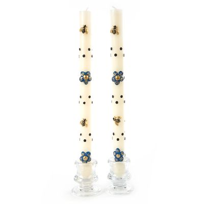 Thistle & Bee Taper Candles - Set of 2