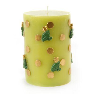 Frog Pillar Candle - Gold