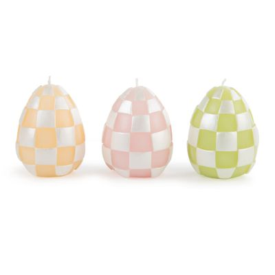 Pastel Egg Candles - Set of 3