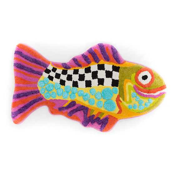 mackenzie childs happy fish bath rug