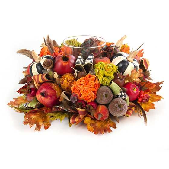 Mackenzie childs autumn harvest candle centerpiece