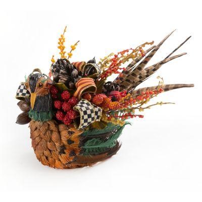 Bittersweet Pheasant Centerpiece