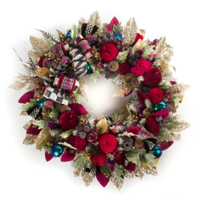 Holiday Frost Wreath - Large