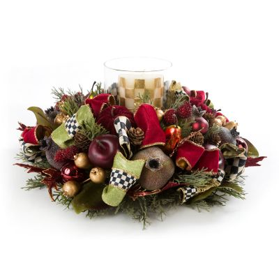 Yuletide Manor Candle Centerpiece