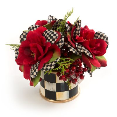 Courtly Check Rose Accent Bouquet