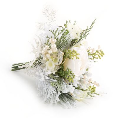 Winter White Rose Bouquet - Large