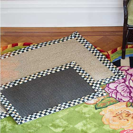 Mackenzie Childs Courtly Check Black Sisal Rug 2 X 3