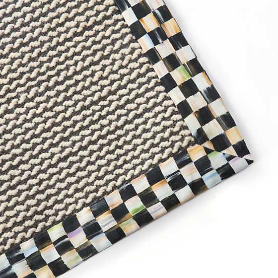 Mackenzie Childs Braided Wool Sisal Rug 2 X 3