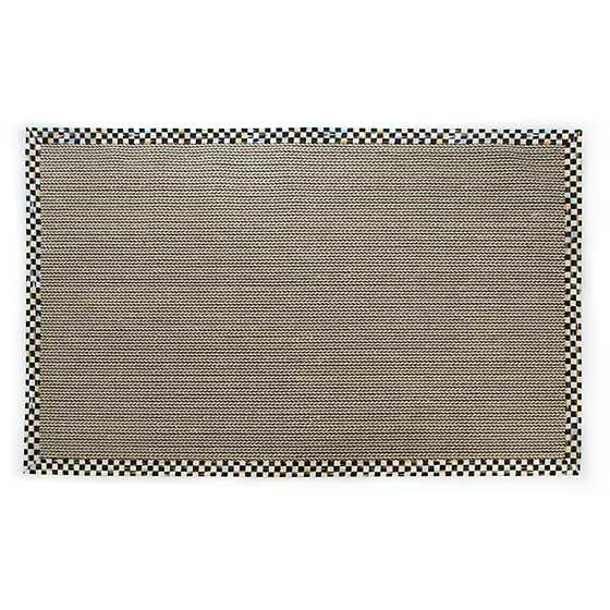 Mackenzie Childs Braided Wool Sisal Rug 6 X 9