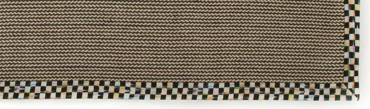 Mackenzie Childs Braided Wool Sisal Rug 8 X 10