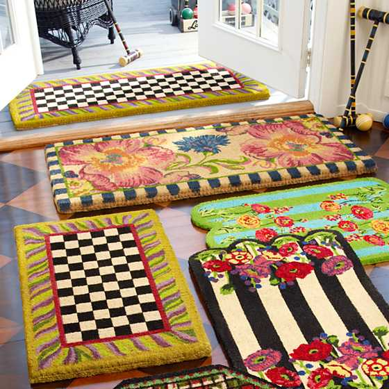 Mackenzie Childs Courtly Check Double Door Entrance Mat