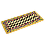 Courtly Check Double Door Entrance Mat