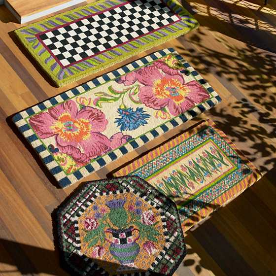 mackenzie childs flower market double door entrance mat. Black Bedroom Furniture Sets. Home Design Ideas