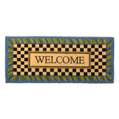 Periwinkle Double Door Welcome Mat