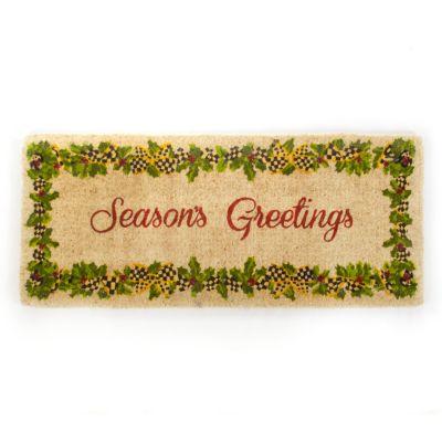 Season's Greetings Double Door Entrance Mat
