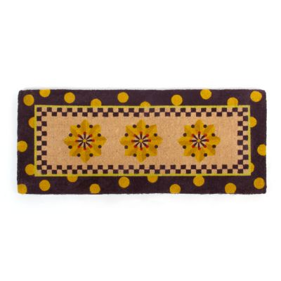 Medallion Double Door Entrance Mat