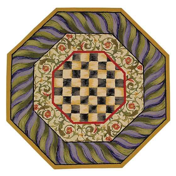 Checkered Bath Rug: Courtly Check Rug - 5' Octagon