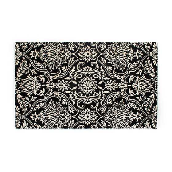 black scroll rug 3 x 5