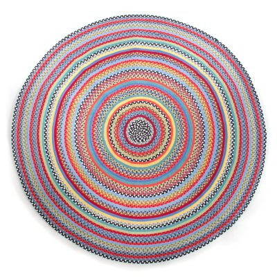 Crayon Braided Rug - 6' Round - Red