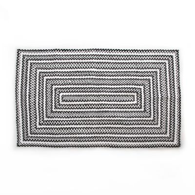 Crayon Braided Rug - 3' x 5' - Black & White