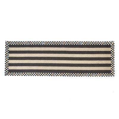 "Stripe Wool/Sisal Rug - 2'6"" x 8' Runner"