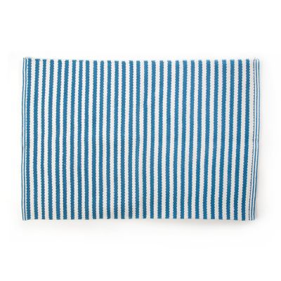 Oxford Blue Stripe Scatter Rug - 2' x 3'