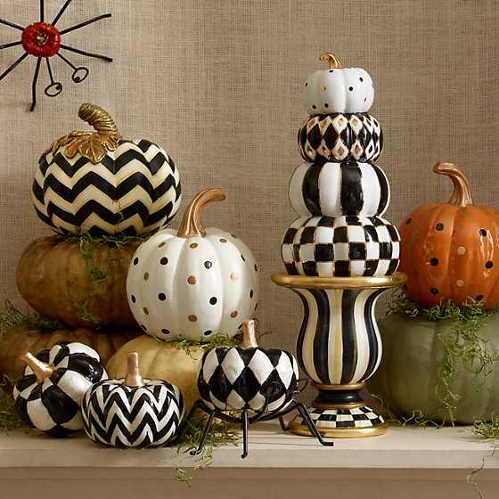 Mackenzie Childs Capiz Pumpkins Set Of 3