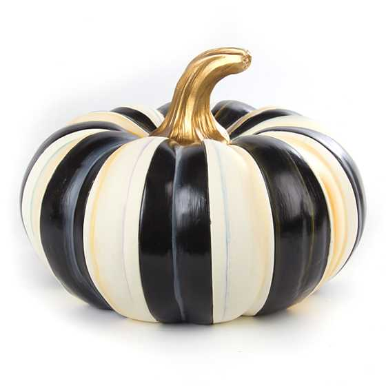 Mackenzie Childs Courtly Stripe Squashed Pumpkin Small