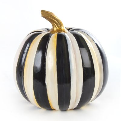 Courtly Stripe Pumpkin - Medium